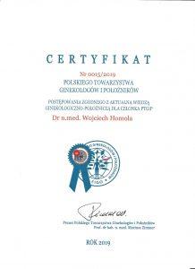 certyfikat PTGiP