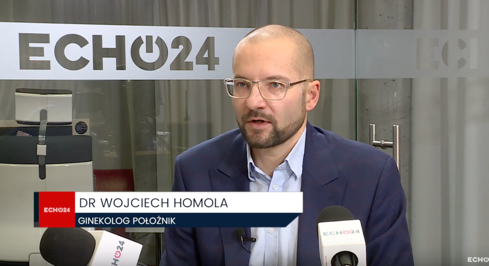 dr Wojciech Homola w telewizji Echo 24, mówi o profilaktyce dotyczącej szyjki macicy, FemiMea