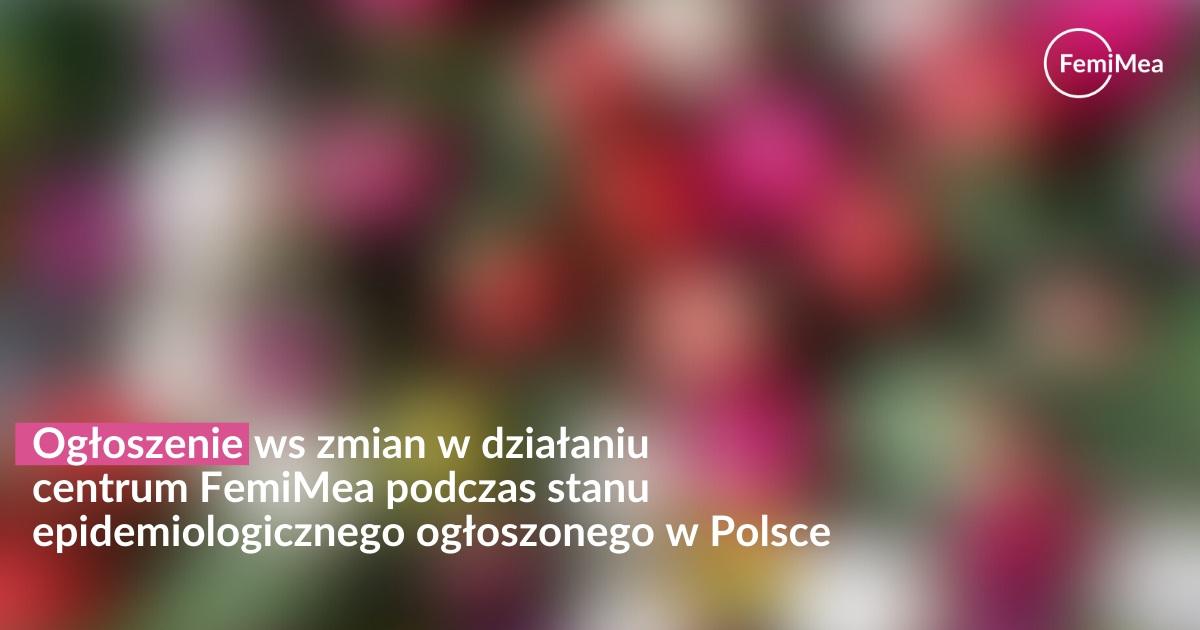 Ogłoszenie ws koronawirusa w Polsce